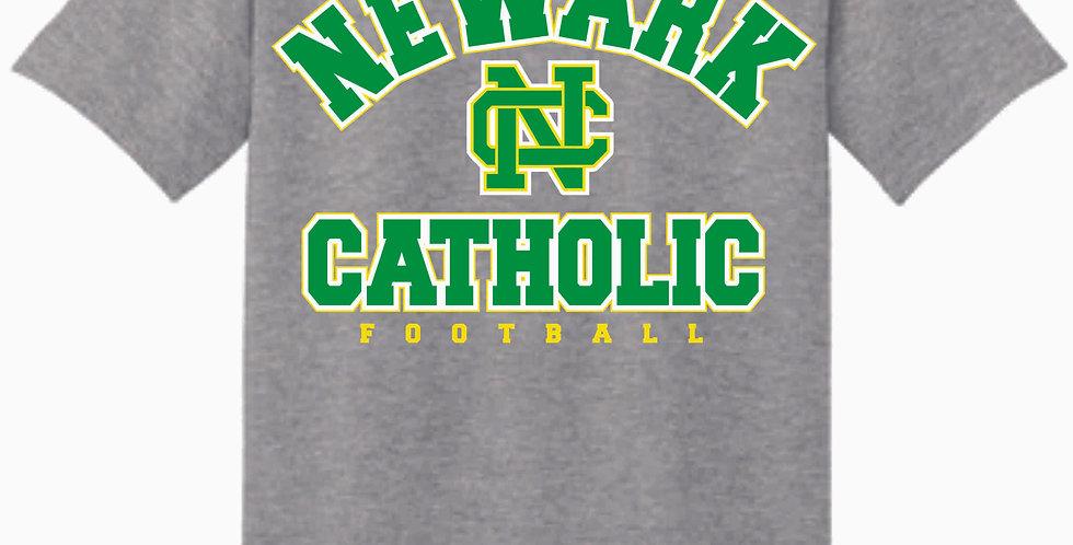 NC Football Sport Grey Cotton T Shirt