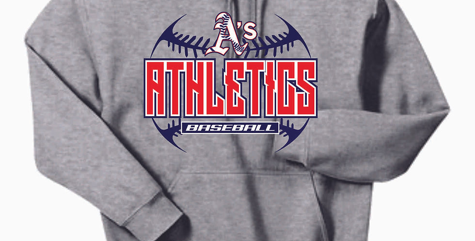 A's Cotton Grey Stitches Hoody