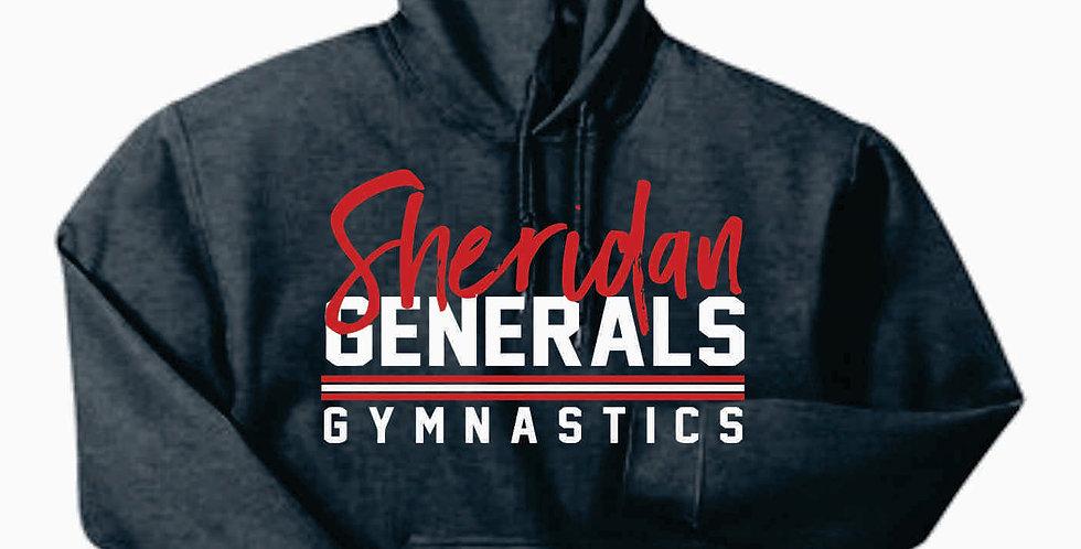 Sheridan Gymnastics Gildan Cotton Dk Grey Hoody