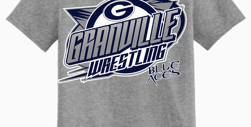 Granville Wrestling Grey T Shirt