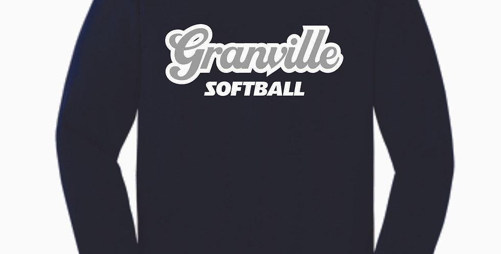 Granville Softball Navy Script Cotton Longsleeve