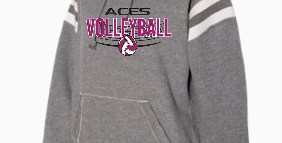 Aces Volleyball J America Grey Simple Hood