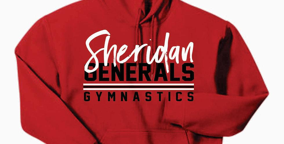 Sheridan Gymnastics Gildan Cotton Red Hoody