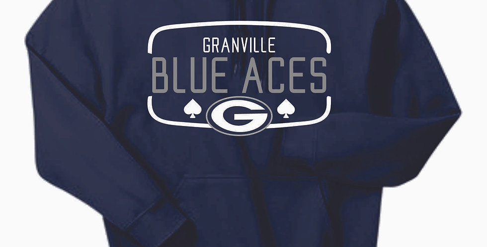 Granville Blue Aces Navy Cotton Hoody