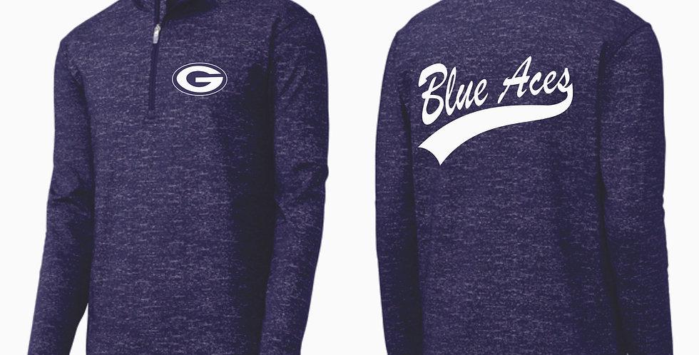 Granville Blue Aces 1/4 Zip Navy Pullover