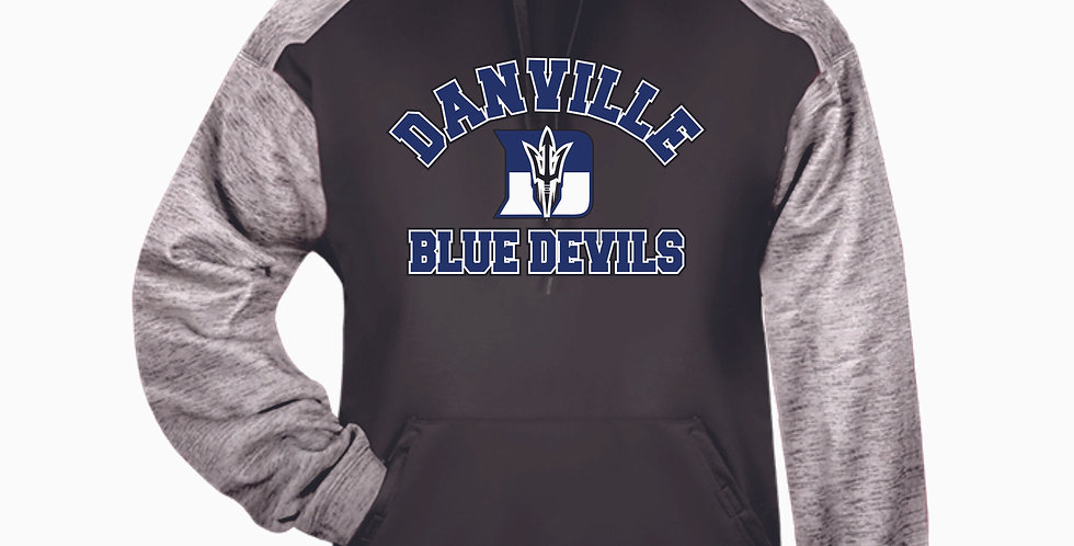 Danville Softball Grey Poly Hood