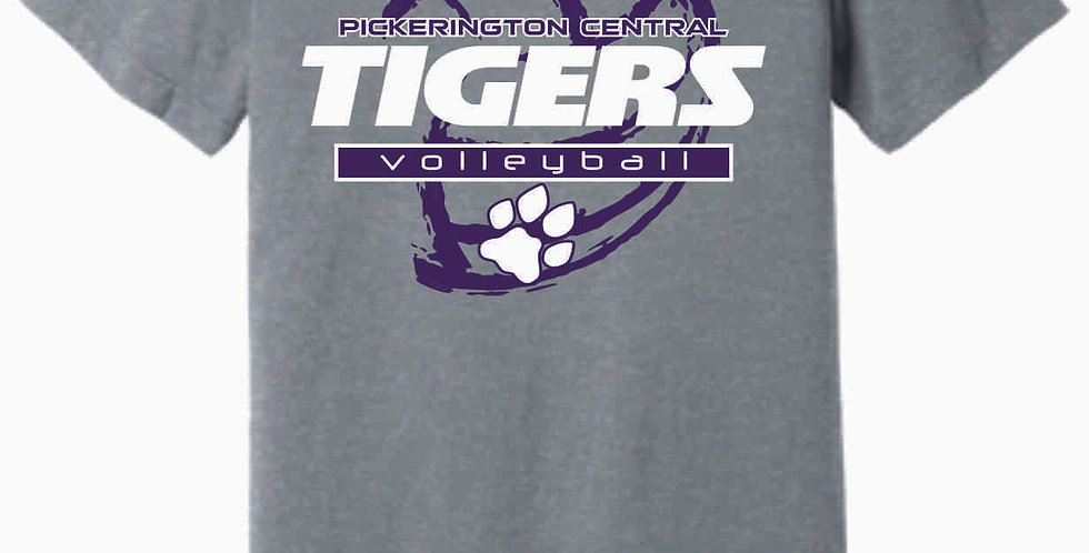 Tiger Volleyball Grey Ball Soft T