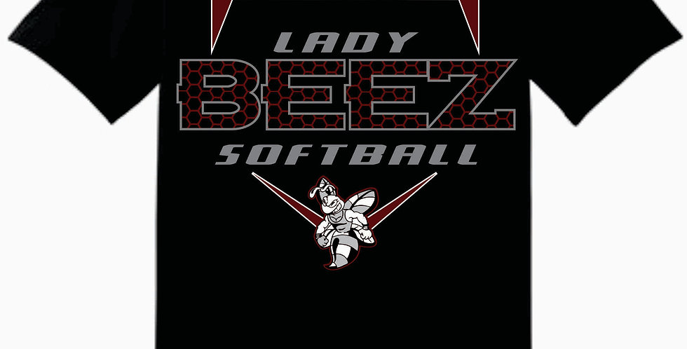 Lady Beez Gildan Cotton Black T Shirt