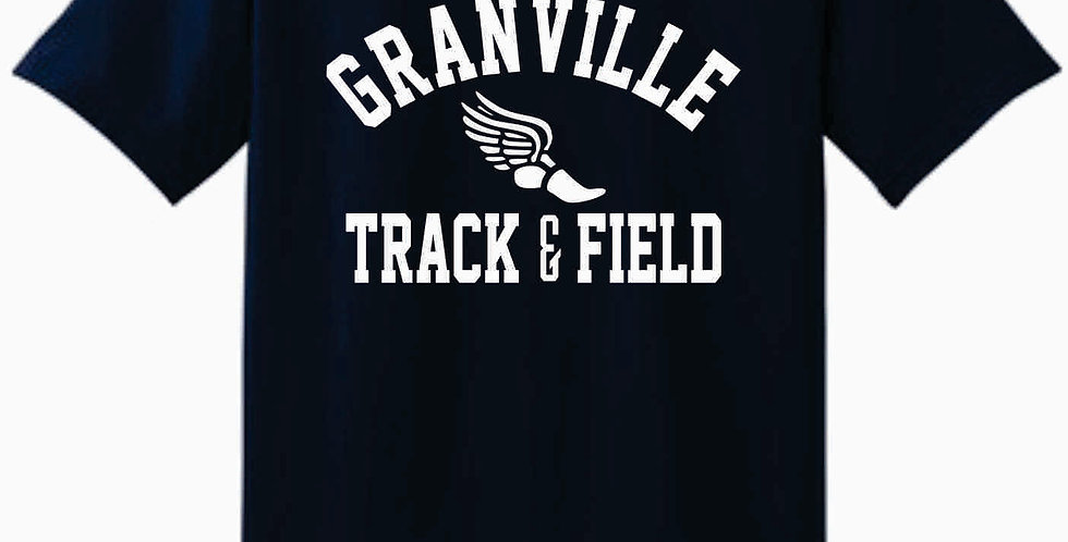 Granville Track and Field Navy Cotton T Shirt