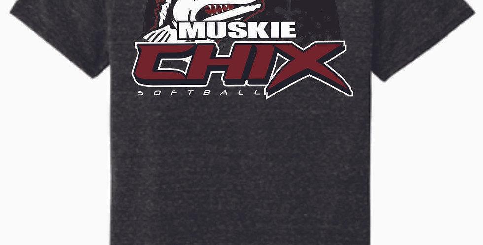 Muskie Chix Black Soft T shirt