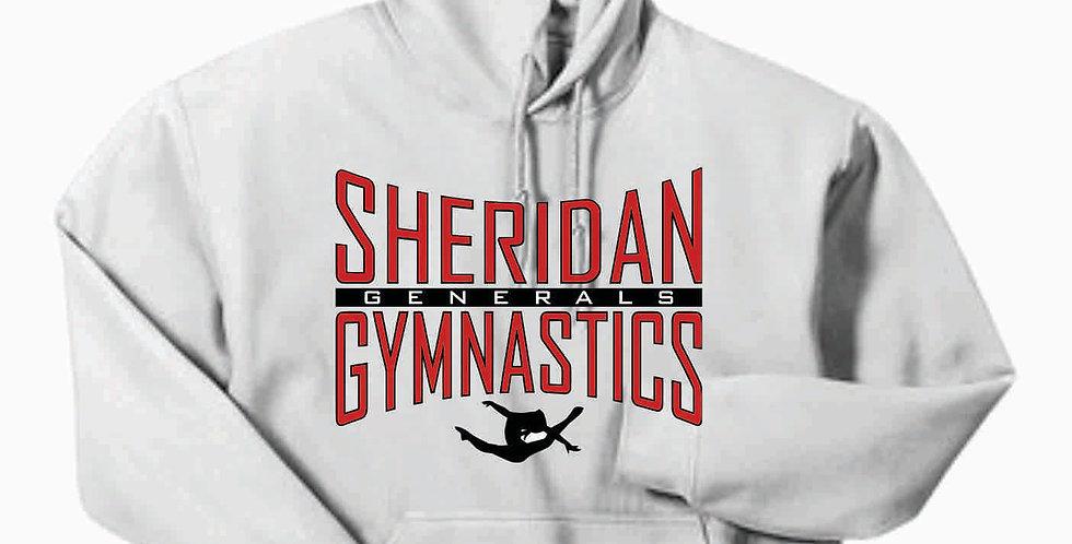 Sheridan Gymnastics Gildan Cotton White Hoody