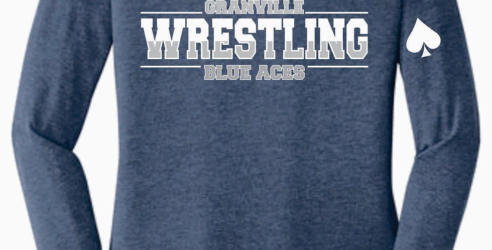 Granville Wrestling Women's Longsleeve Navy T shirt