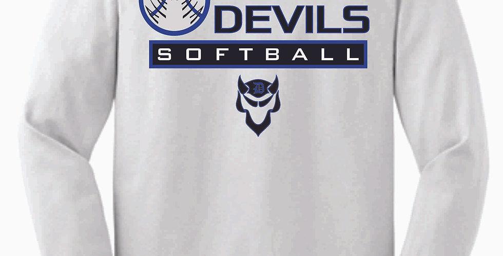 Danville Softball White Cotton Longsleeve Tee