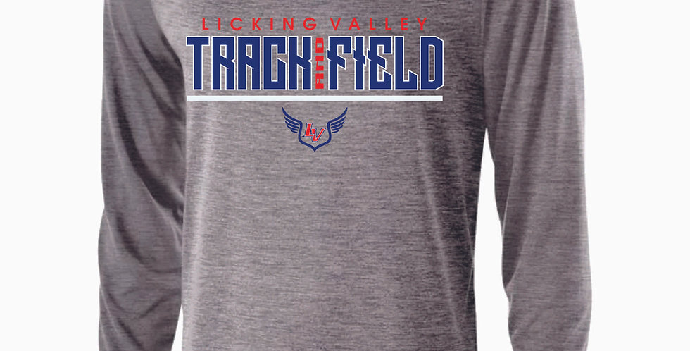 Licking Valley Track and Field Grey Dri Fit Longsleeve