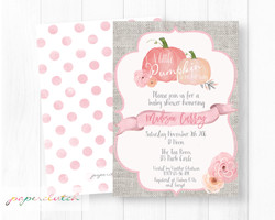 Pumpkin Baby Shower Invitation