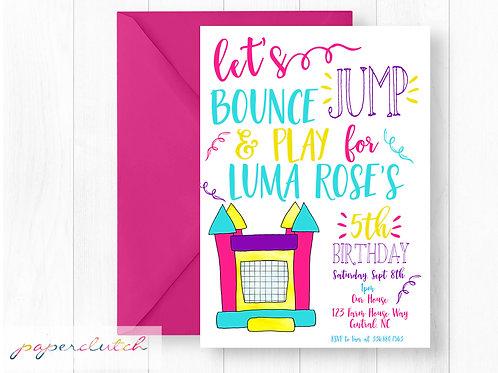 Bounce House Birthday Invite