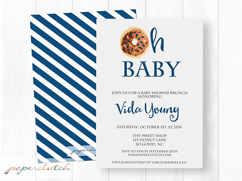 Donut Baby Shower Invitation