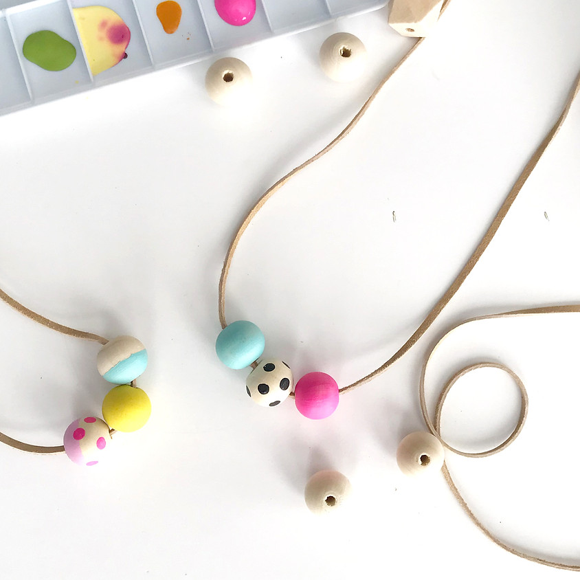 Open Studio : Painted Bead Necklace