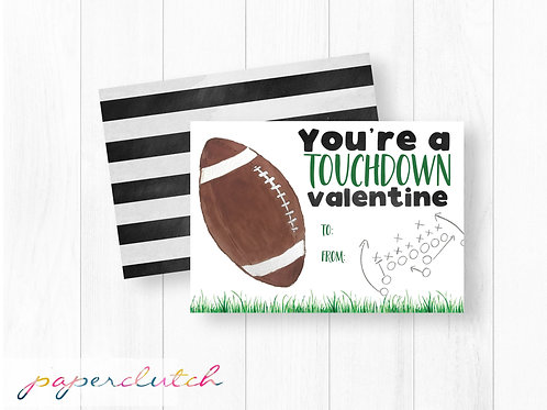 Football Printable Valentine for Boy