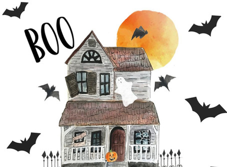 Halloween Haunted House Coloring Page - Free Printable