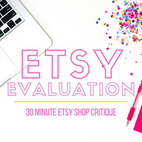ETSY SHOP EVALUATION