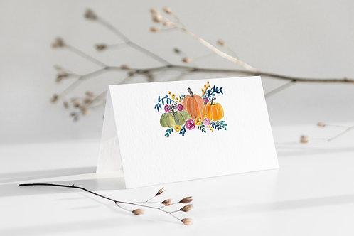 Pumpkin Place Cards - Printable