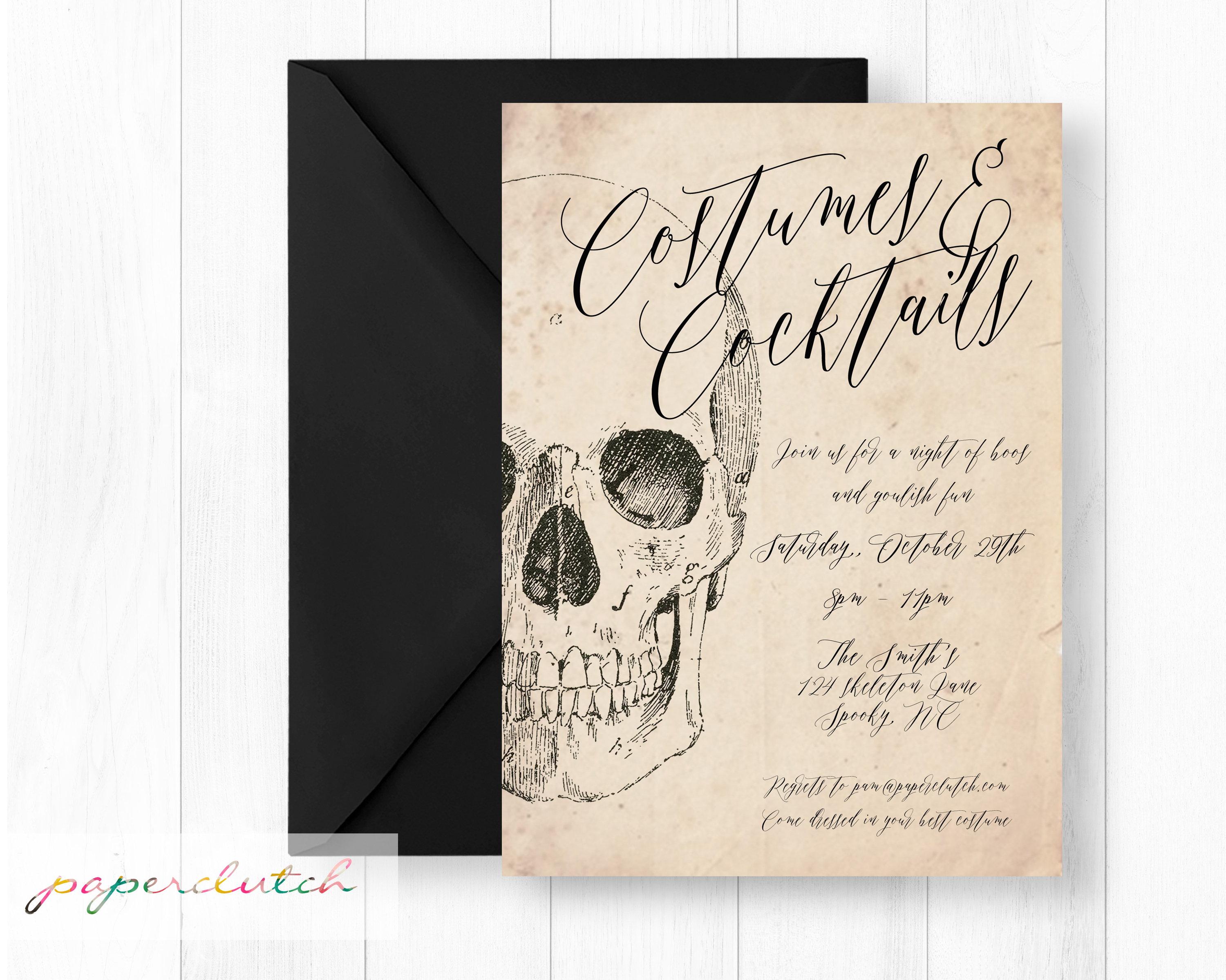 Costume Cocktail Party Invitation