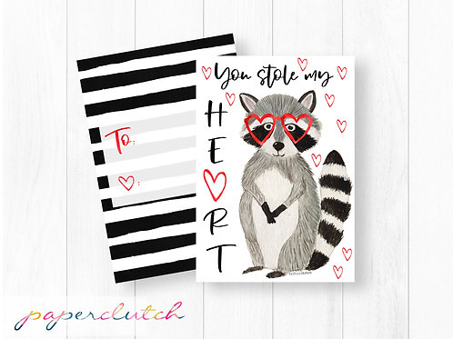 Racoon Valentine You stole My Heart