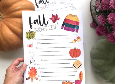 Free Fall Bucket List!