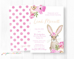 Boho Bunny Invitation