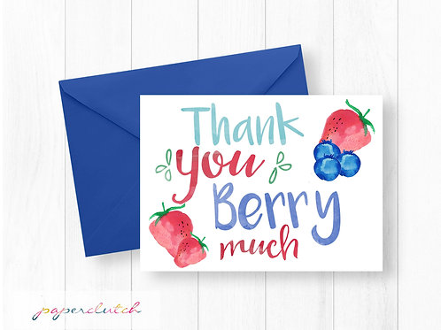 Thank you Berry Much Thank You Card