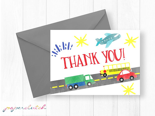 Transportation Thank You Card