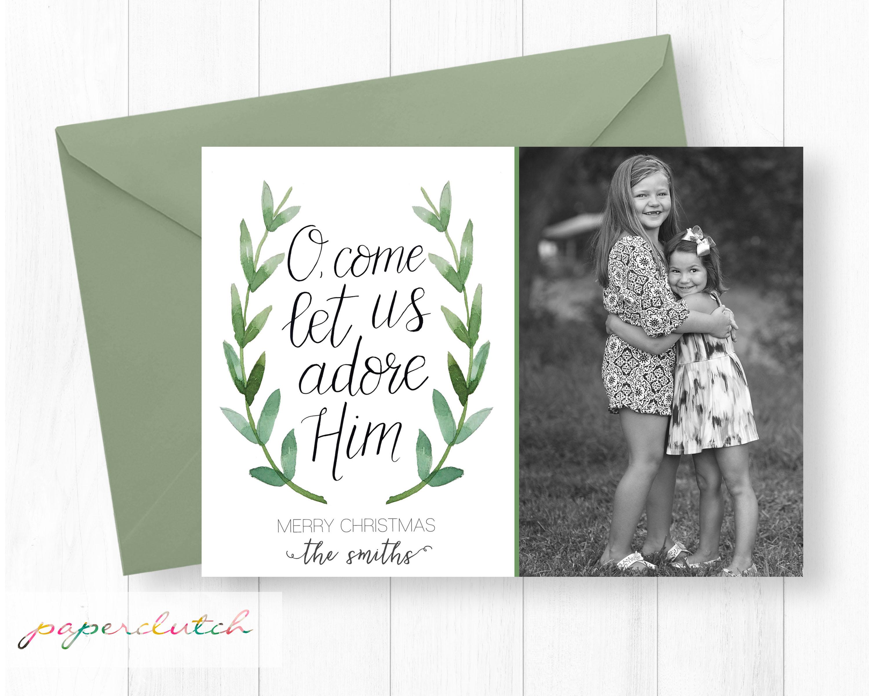 O, Come Photo Christmas Card