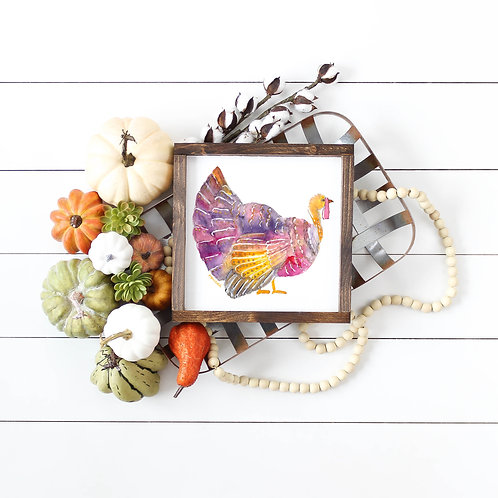 Watercolor Turkey Print