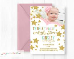 Twinkle Twinkle 1st Birthday Invite