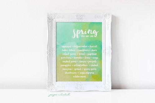 Digital Four Seasons Art Print