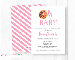 Girl Baby Shower Brunch Invitation