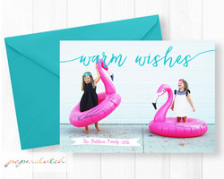 Warm Wishes Photo Holiday Card
