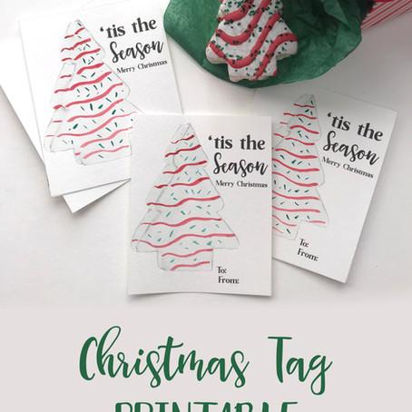 'Tis the Season for Christmas Tree Cakes and Christmas Printables!