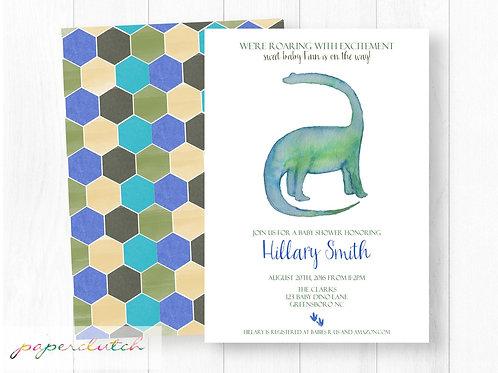 Dinosaur Baby Shower Invitation