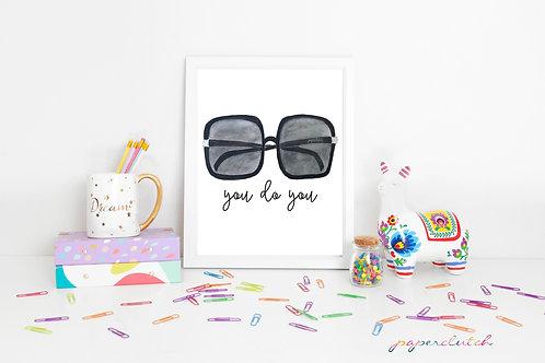 Sunglasses Art Print or Poster