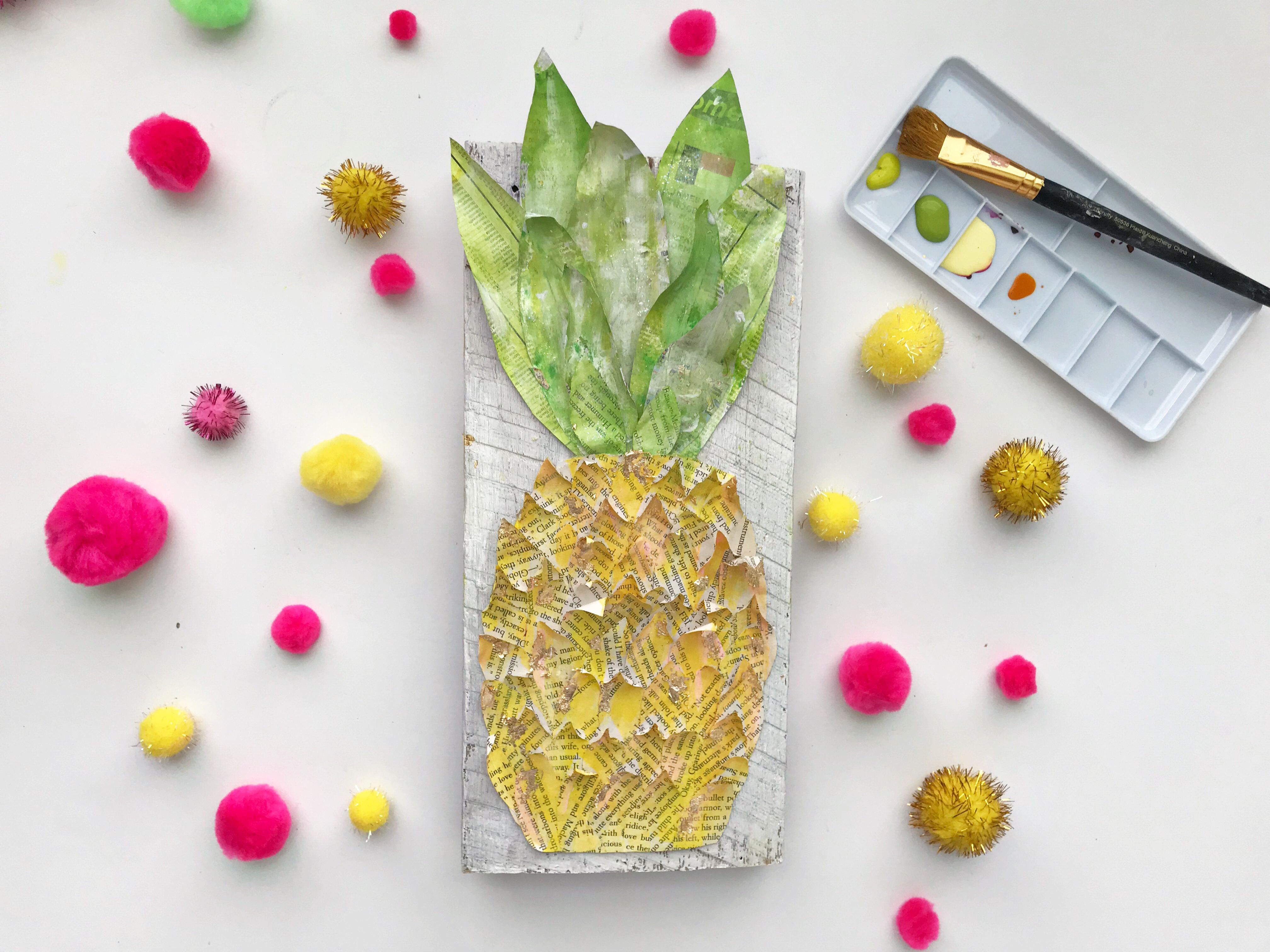 Mixed Media Pineapple