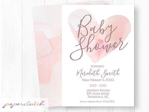 Valentines Baby Shower Invitation