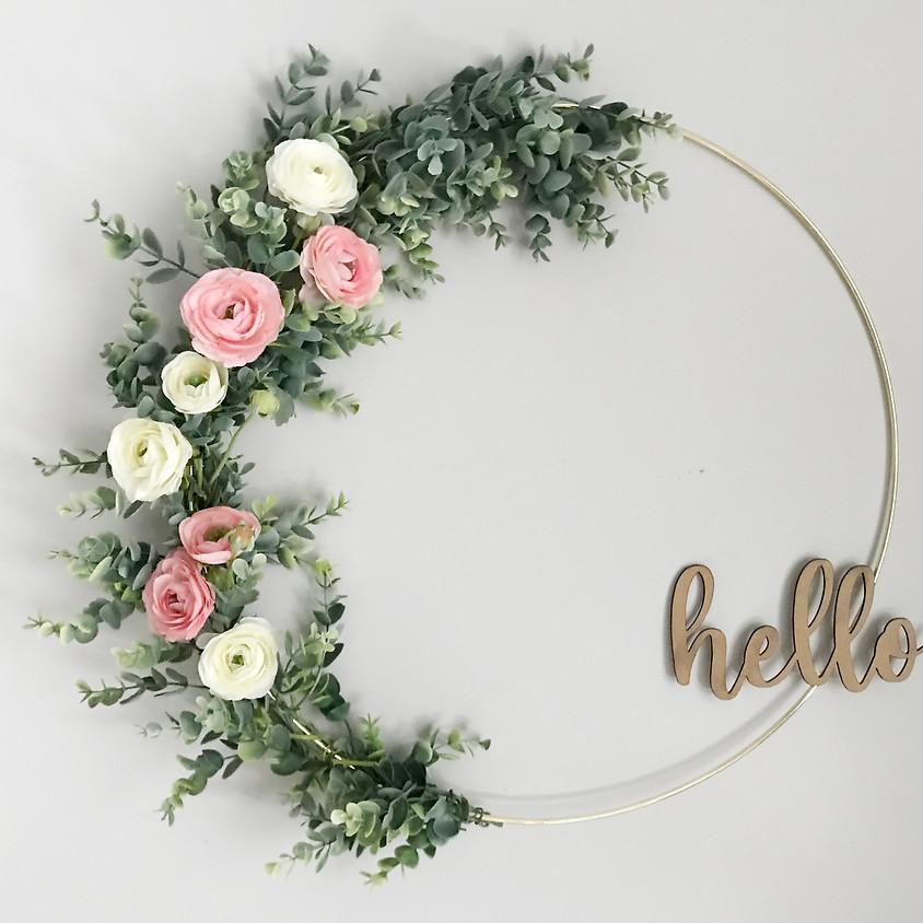 Spring Hoop Wreath Craft & Sip