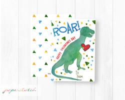 T Rex Dino Valentine