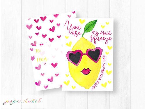 Lemon School Valentine