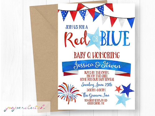 Red and Blue Gender Reveal