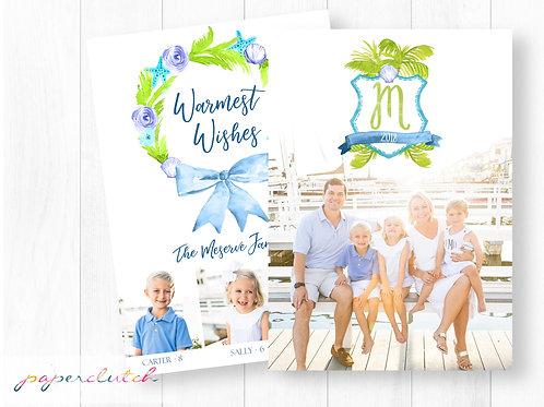 Beach Family Christmas Card