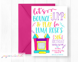 Bounce Birthday Invite