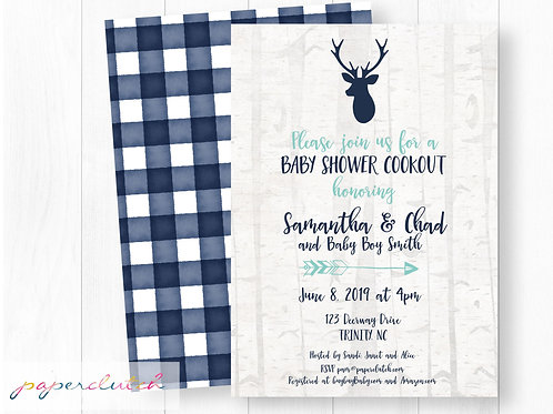 Hunting Boy Baby Shower Invitation